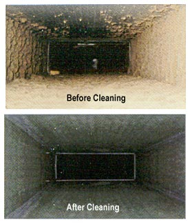 ducts before and after cleaning for mould