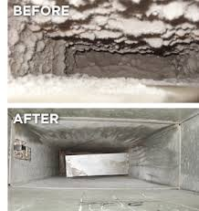 duct with mould before and after